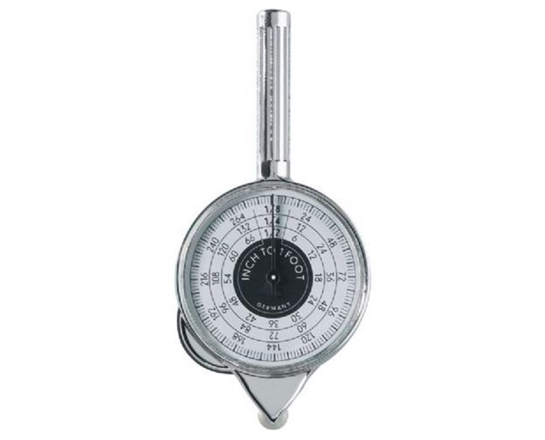 Alvin® Dual-Sided Plan Map Measure Wheel w/Inches Counter 1117
