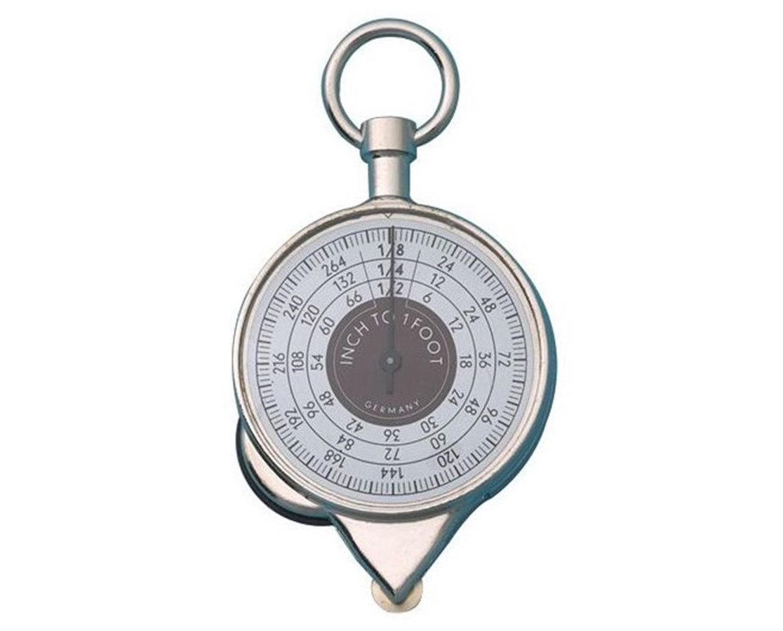 Alvin® 2-Sided Map Measure Wheel w/Inches Counter and Ring 1118