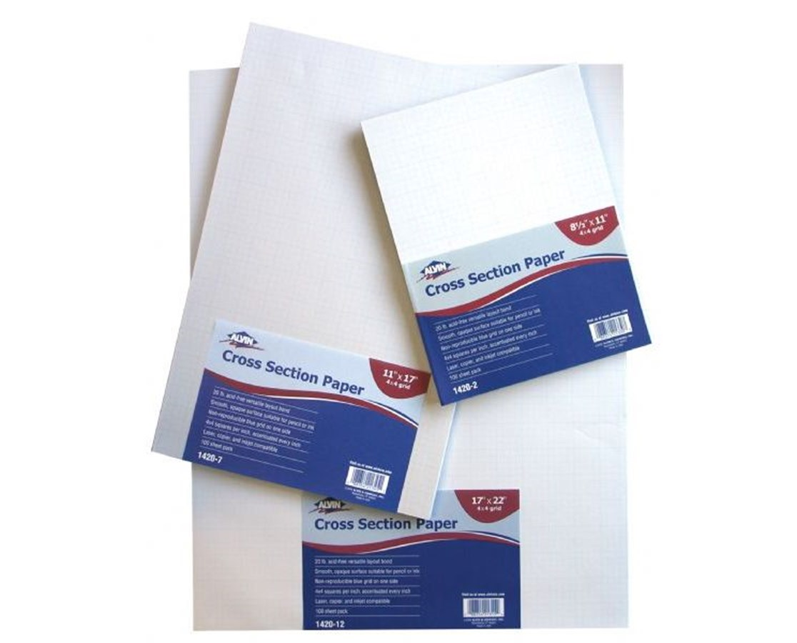 Croos Section Drawing Paper 8 x 8 100 Sheet Package 1420-40