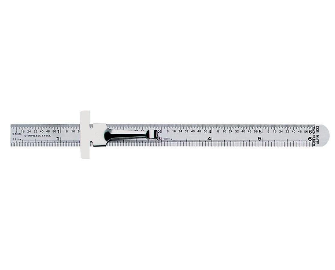 ST.STEEL POCKET RULE 6  W/CLIP 1532