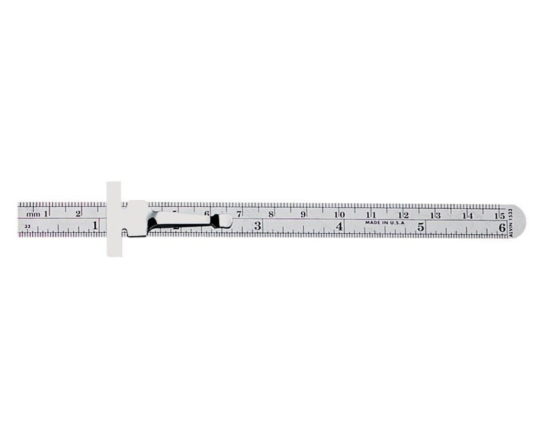 RULER MILLIMETER 15CM W/CLIP 1533