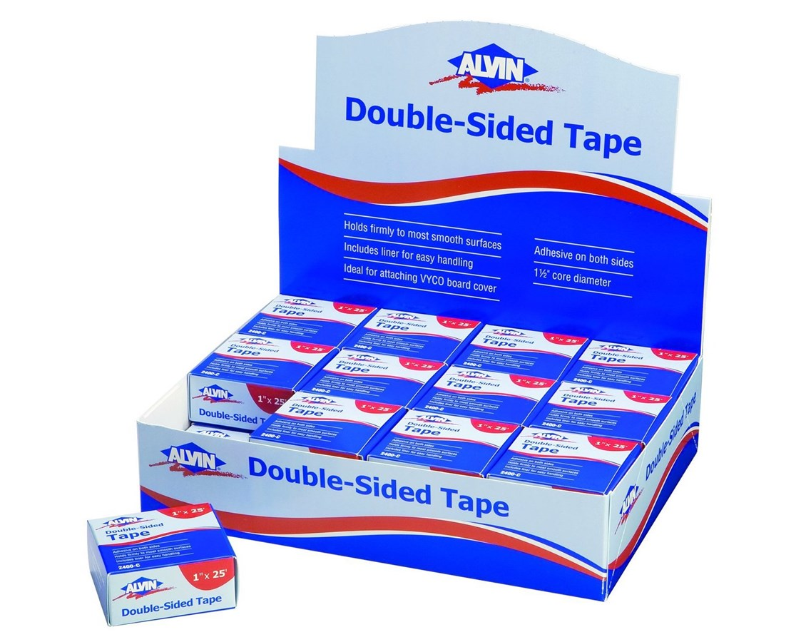 DOUBLE-SIDED TAPE 1/2in x 36yd 24001