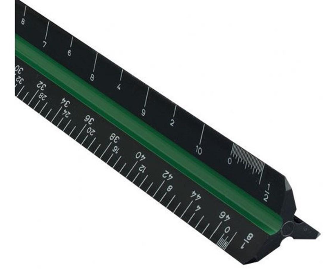 """Black Plastic Triangular Scales 12"""" 2400BP"""