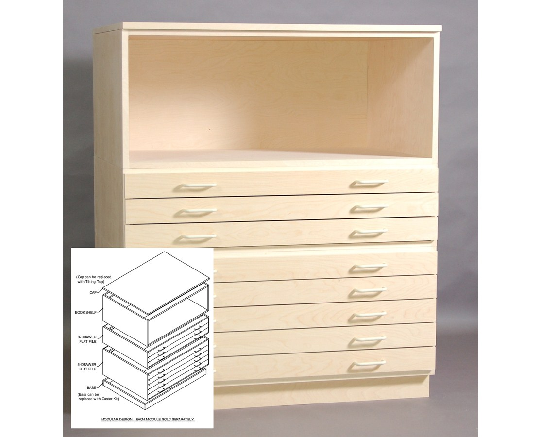 SMI Birch Bookshelf for 24 x 36 Plan File 2436-SB