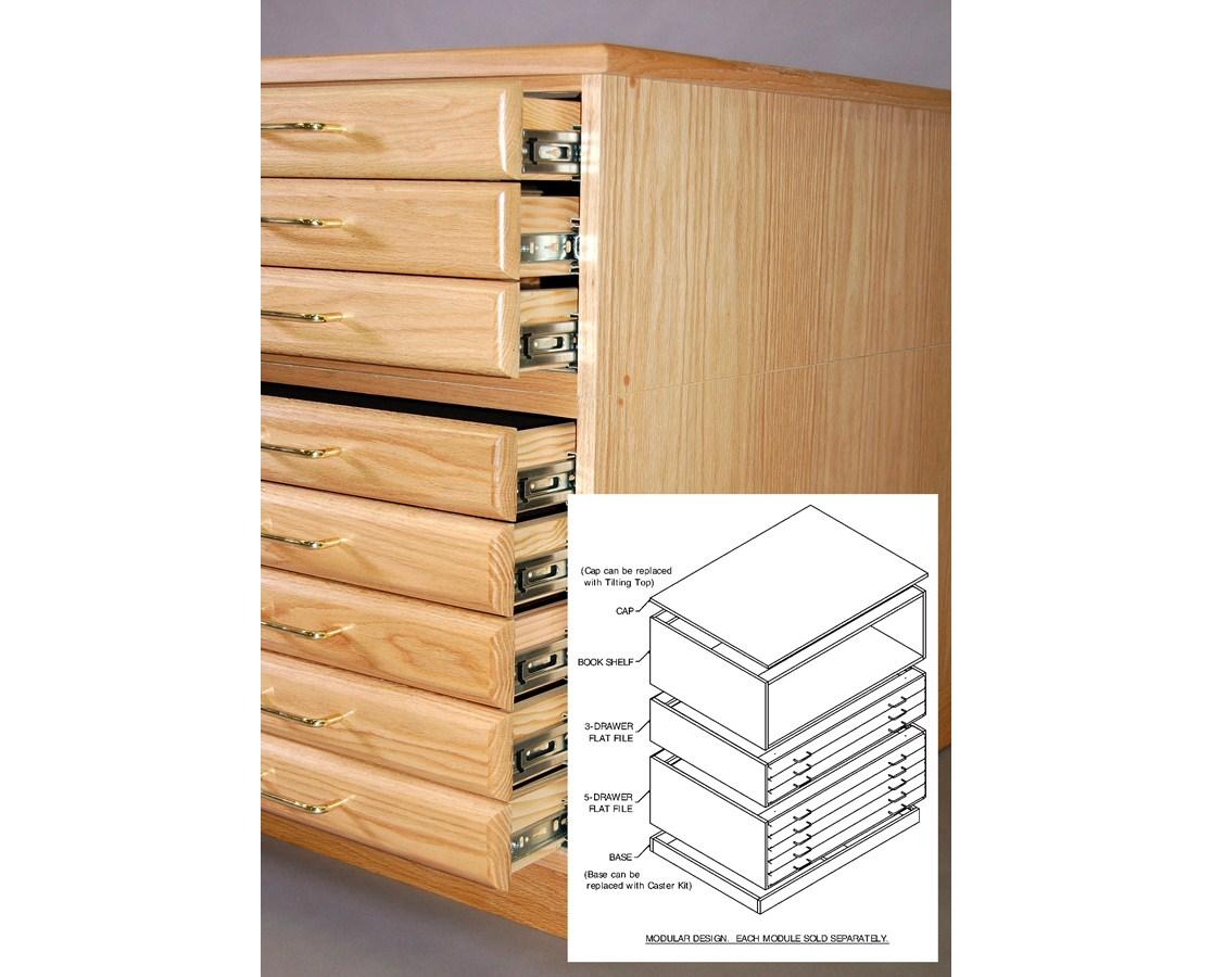 SMI Oak 30 x 42 Steel Drawer Guide Plan File 3042-3D-SDG