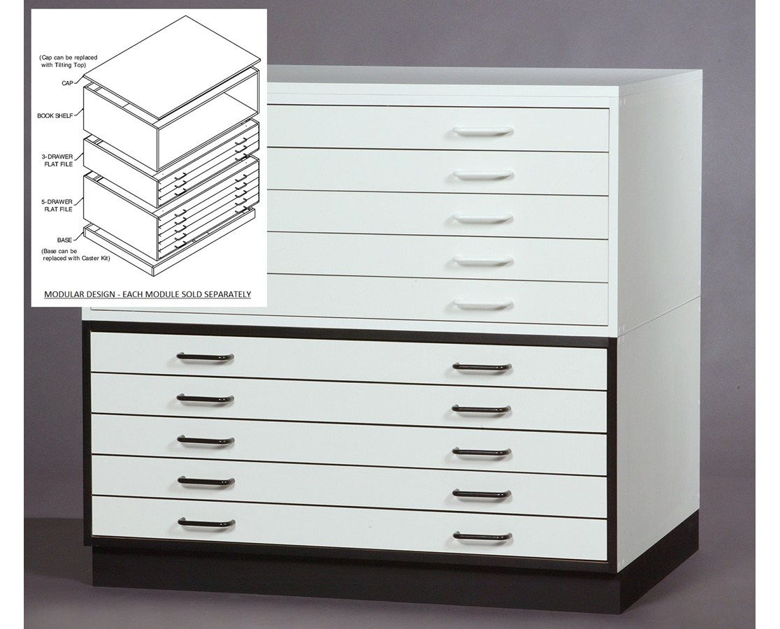 SMI 5 Drawer 30 x 42 Melamine Plan File 3042-5DM