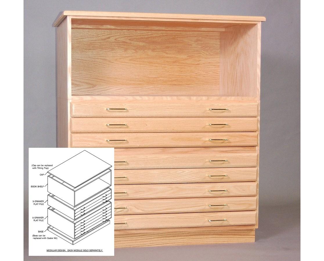 SMI Bookshelf for 30 x 42 Inch Oak Plan File 3042S