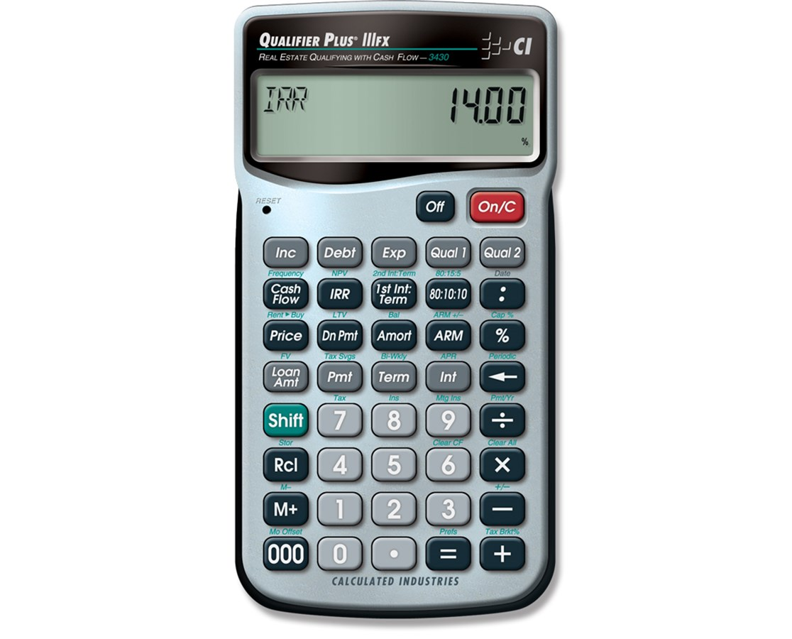 Calcualted Industries Qualifier Plus IIIFX 3430