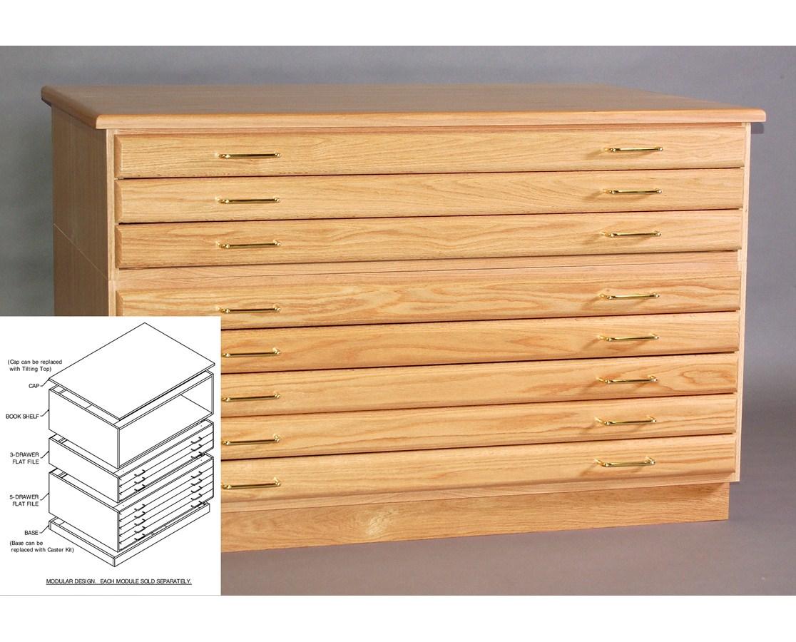 SMI Oak 3 Drawer 36 x 48 Plan File 3648-3D