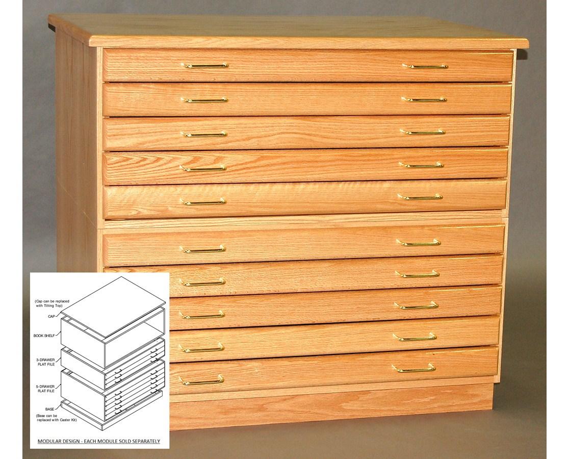 SMI Oak 5 Drawer 36 x 48 Plan File 3648-5D