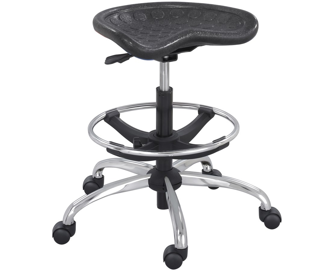 Safco SitStar Stool with Chrome Base SAF6660BL