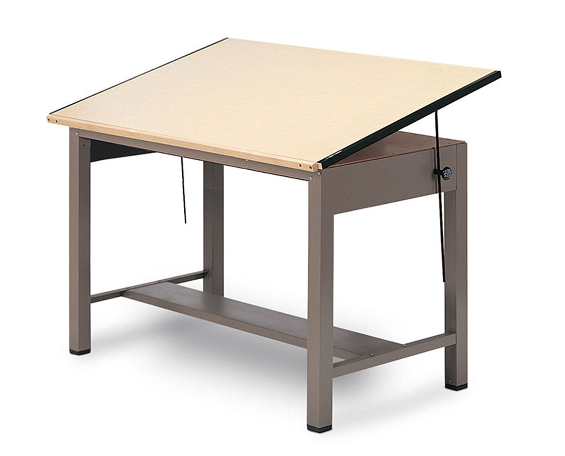 Mayline Ranger Steel Four Post Drafting Table No Drawers 7732