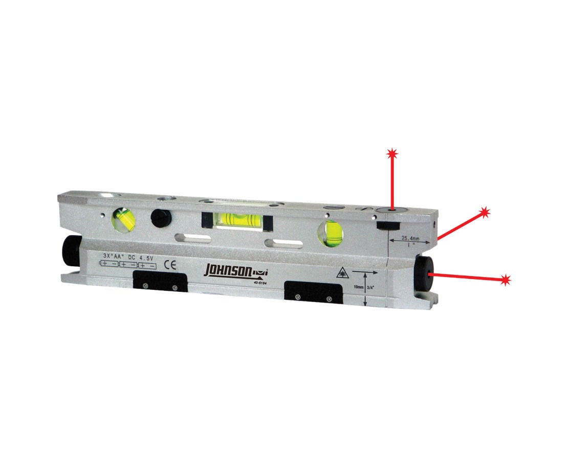 Johnson AccuLine 3-Beam Torpedo Laser Level 40-6184