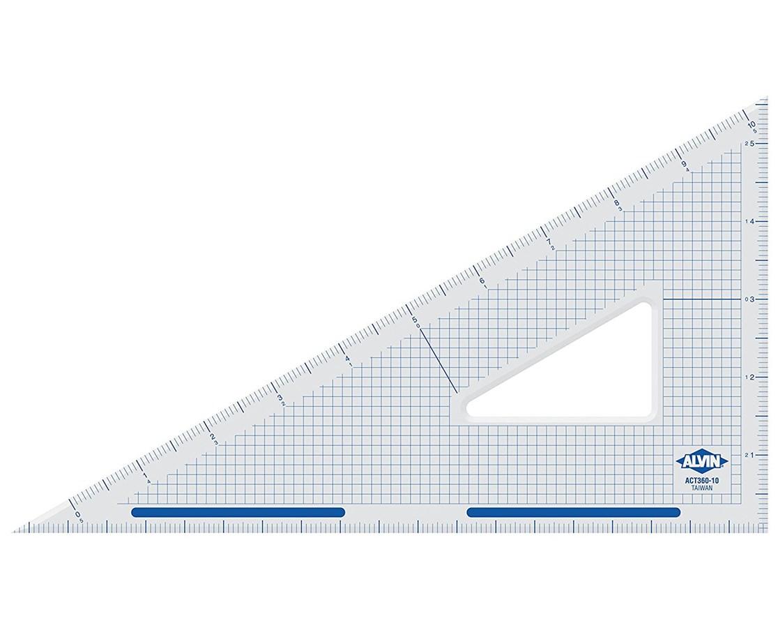 ALVIN Academic Transparent Triangles 30/60 12 S1390-120