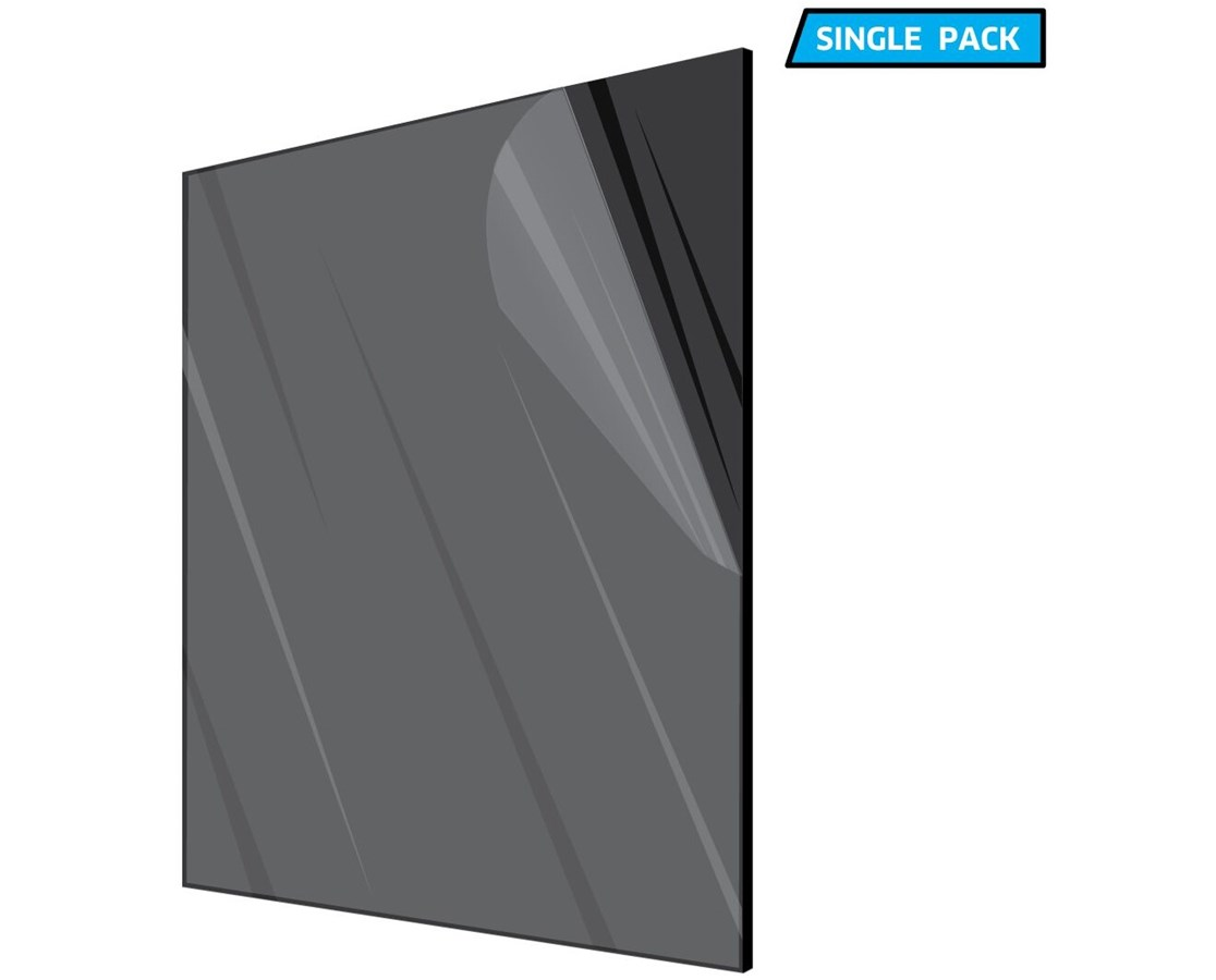 AdirOffice Black Acrylic Plexiglass Sheet 1/8 Inches Thick ADI1212-1-B