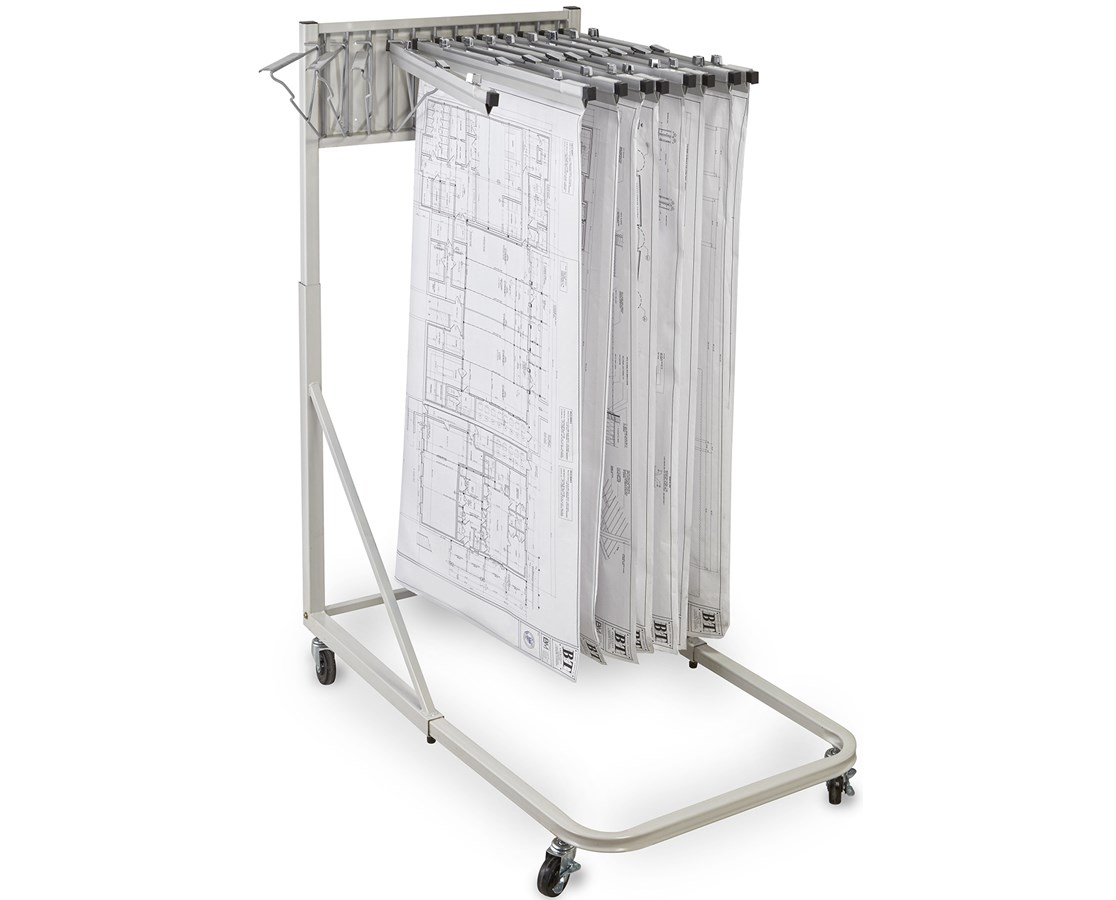 Adir Mobile Blueprint Rack 613