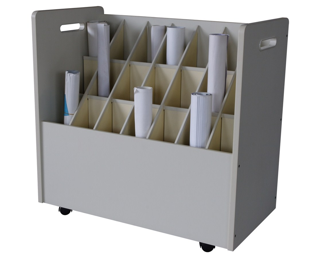 Adir Mobile Wood Roll File 21 Compartment 625