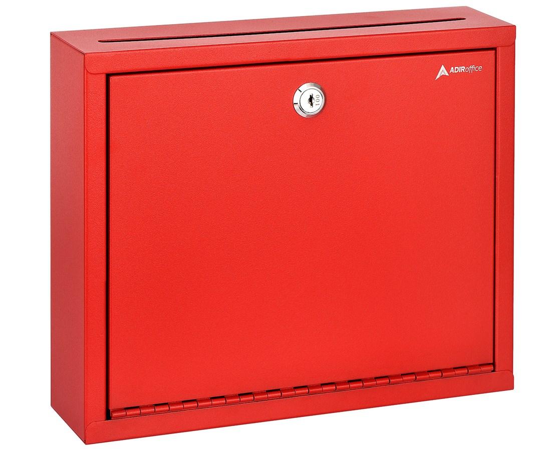 Adir Steel Red Drop Box Wall Mountable Envelope Cash Mail