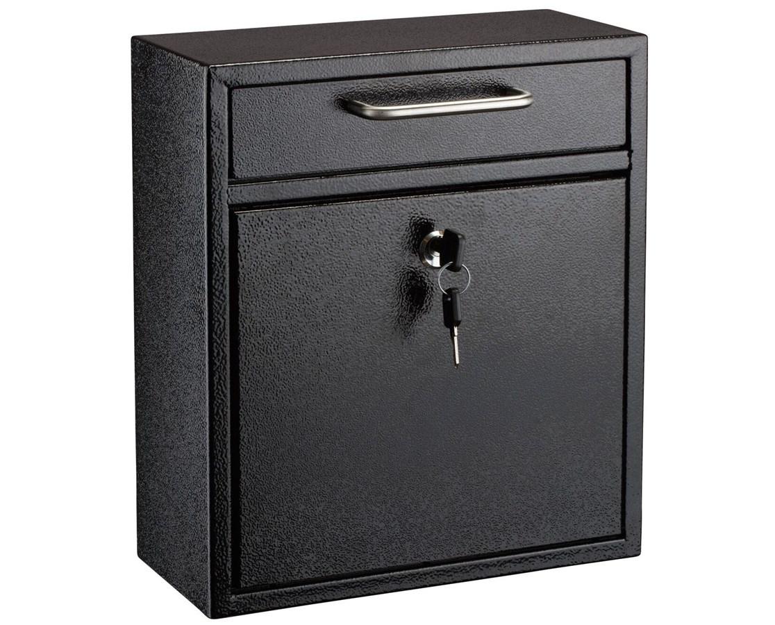 AdirOffice Ultimate Drop Box Wall Mounted Mail Box ADI631-05-BLK-