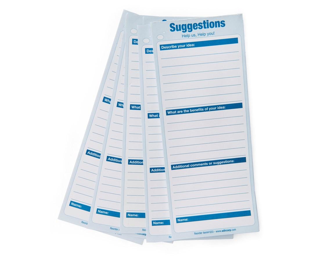 AdirOffice 633 Refill Suggestion Box Cards (25 Ct.) ADI633