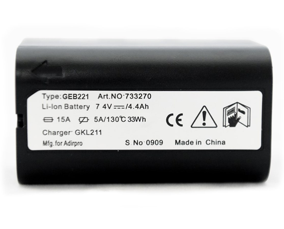 AdirPro 77GEB221 Li-ion Battery for Total Stations, Lasers, and GNSS Receivers (Leica Compatible)