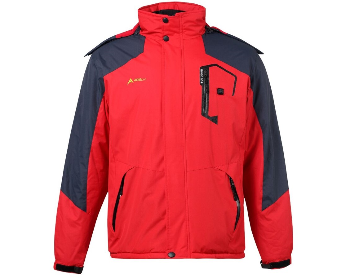 AdirPro Hooded Heated Jacket ADI781-RED-S