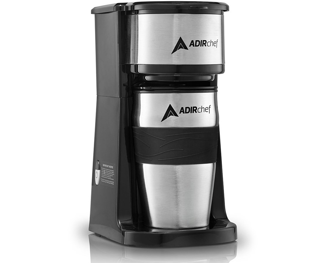 AdirChef Grab & Go Personal Coffee Maker ADI800-01-BLK