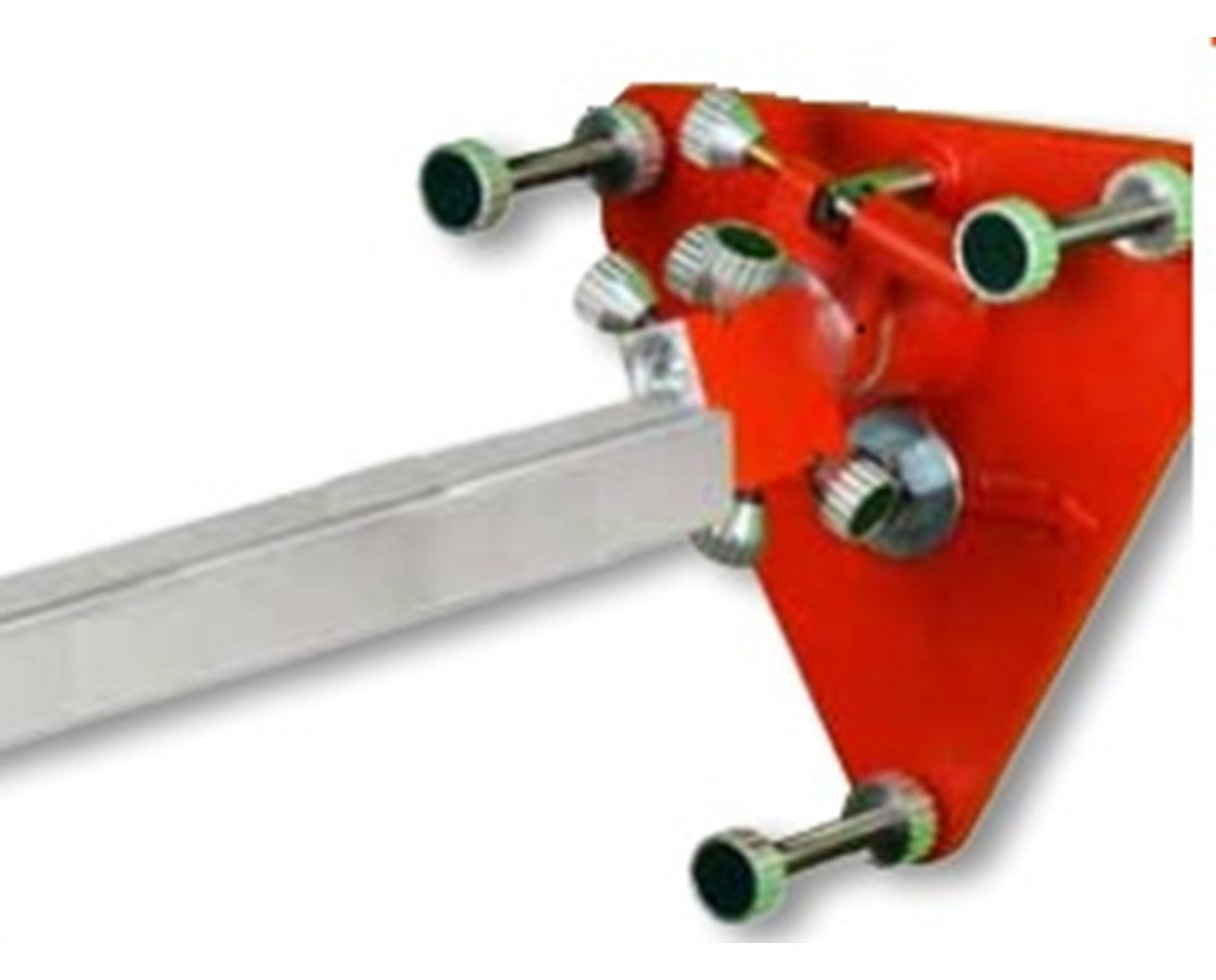 """Mounting Plate w/6"""" Adjustable Legs & Fine Adjustment Block AGL9-09030"""