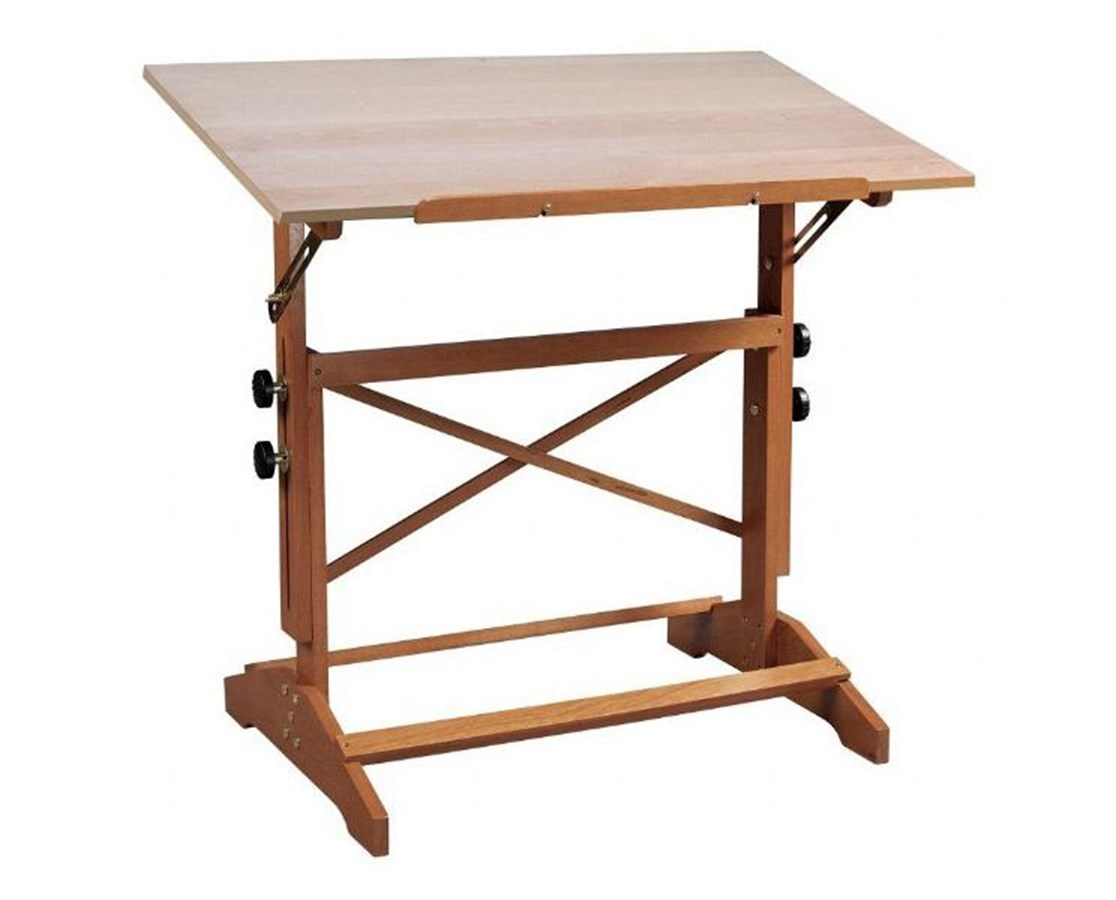 Alvin Pavillon Unfinished Wood Drafting Table AP436