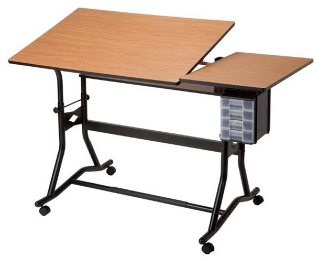 Alvin CraftMaster III Split-top Drafting Table ALV-CM60-3-WBR - Alvin CraftMaster III Split-top Drafting Table CM60-3-WBR - Tiger