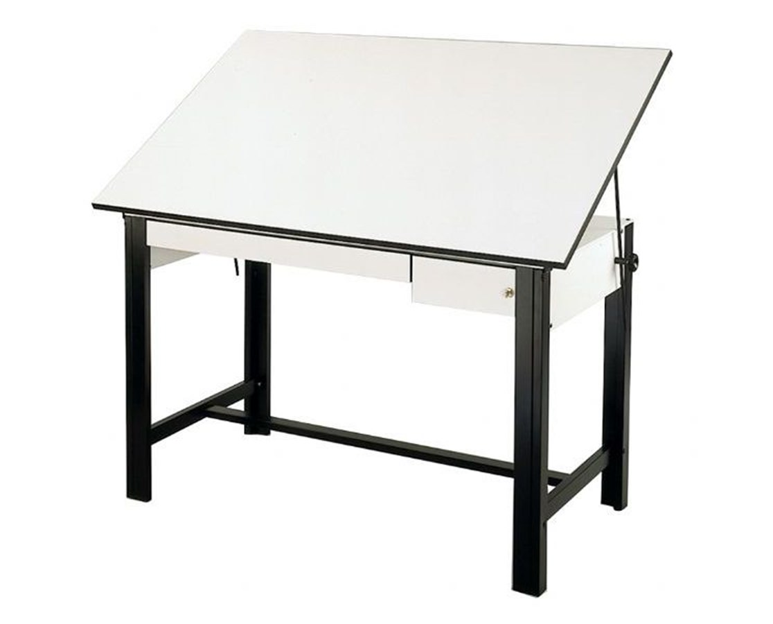Alvin DesignMaster Black Base Drafting Table with Drawers DM60CT-BK