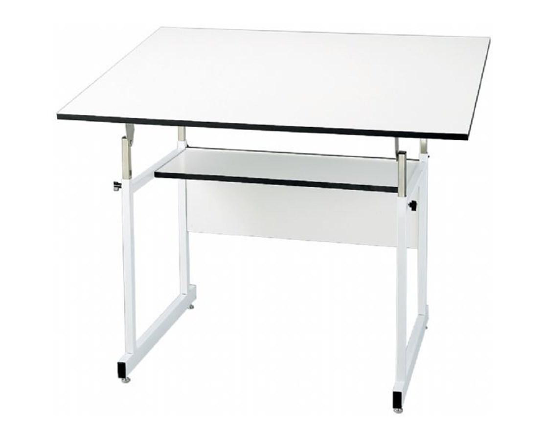Alvin WorkMaster Jr. White Base Drafting Table ALV-WMJ-4-XB
