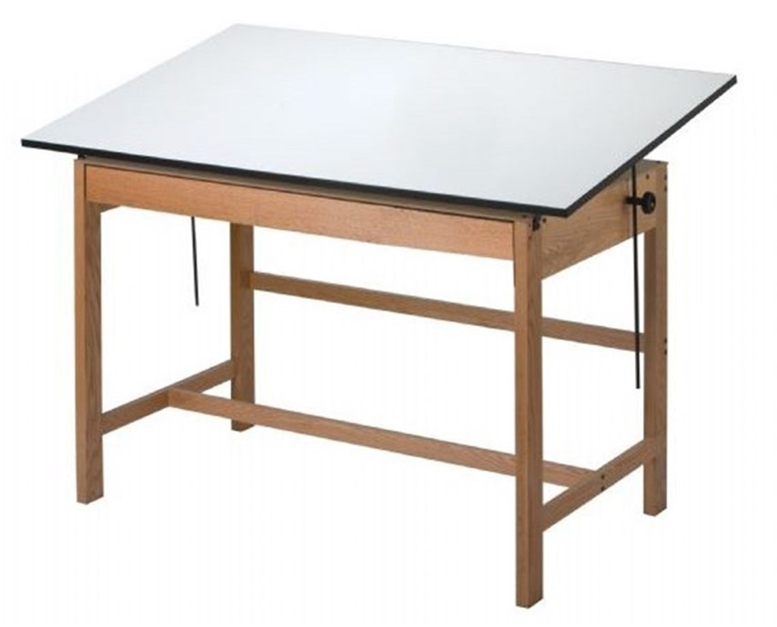 Alvin Titan Solid Oak Wood Drafting Table WTB42