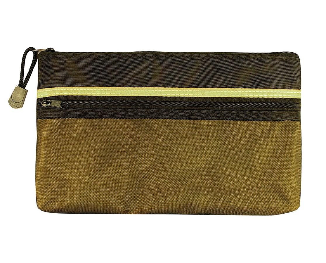 Alvin Dual Zippered Pocket Fabric Mesh Bag ALVEBD