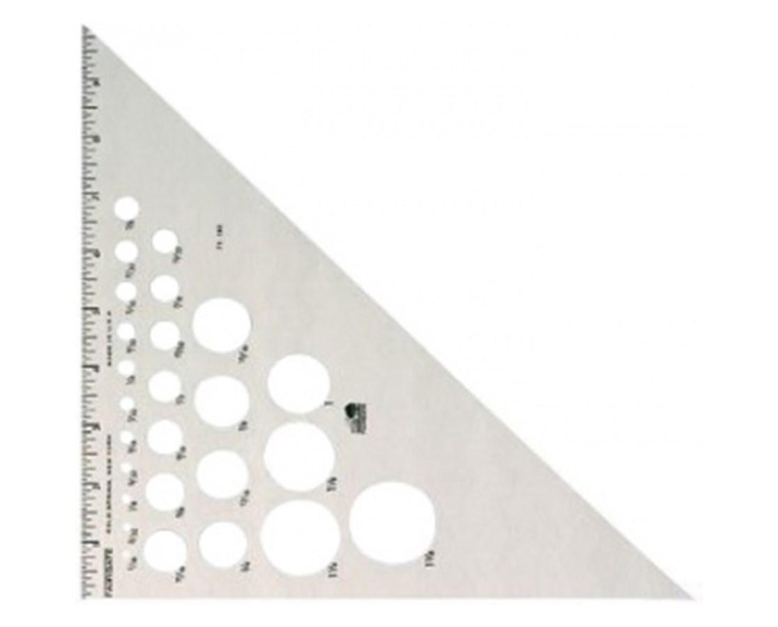 TRIANGLE ALUM 45/90 DEG 6 INCH AT2450-6