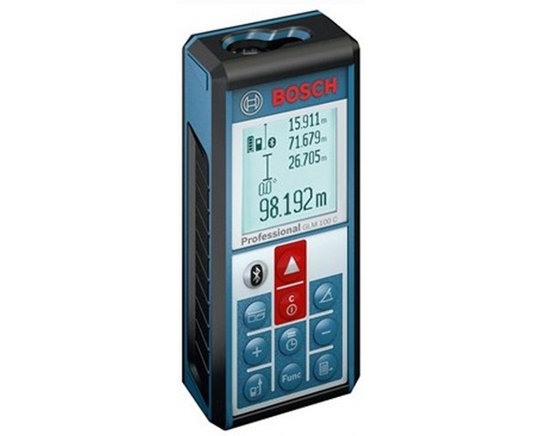 bosch glm 100 c laser distance meter with bluetooth tiger supplies. Black Bedroom Furniture Sets. Home Design Ideas