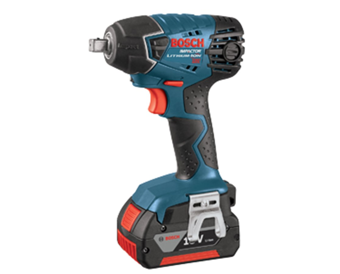 """Bosch 24618-01 18V 1/2"""" Impact Wrench with 2 Fat pack batteries BOS24618-01"""