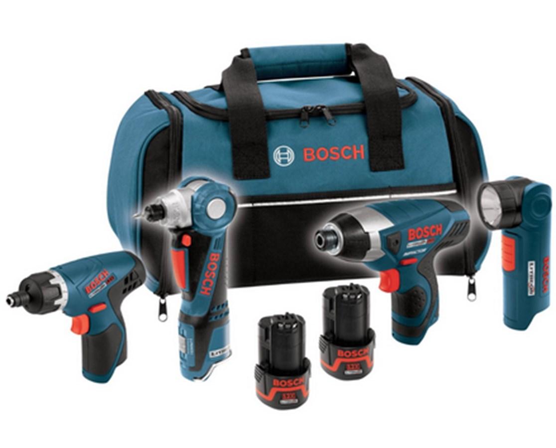 Bosch CLPK40-120 12V Max 4-tool Lithium-Ion Cordless Combo Kit BOSCLPK40-120