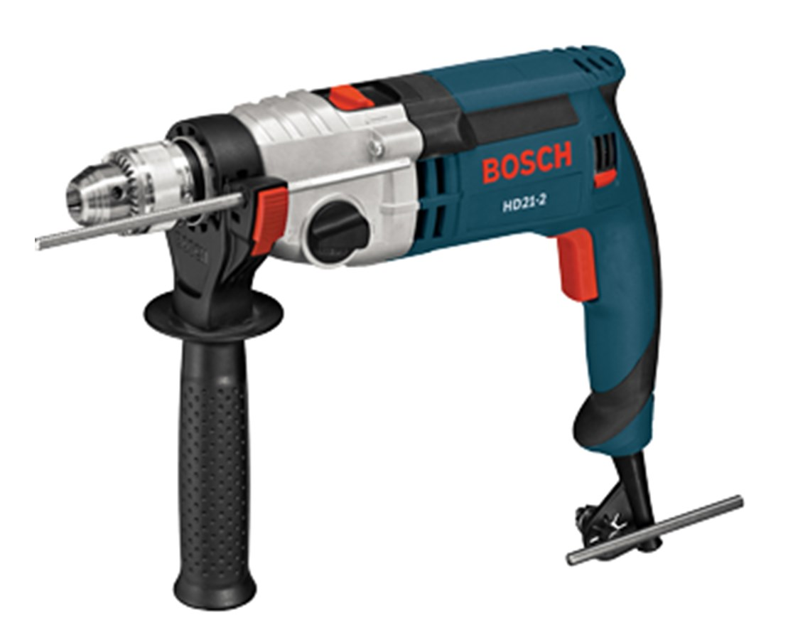 bosch hd21 2 1 2 2 speed corded hammer drill kit tiger. Black Bedroom Furniture Sets. Home Design Ideas