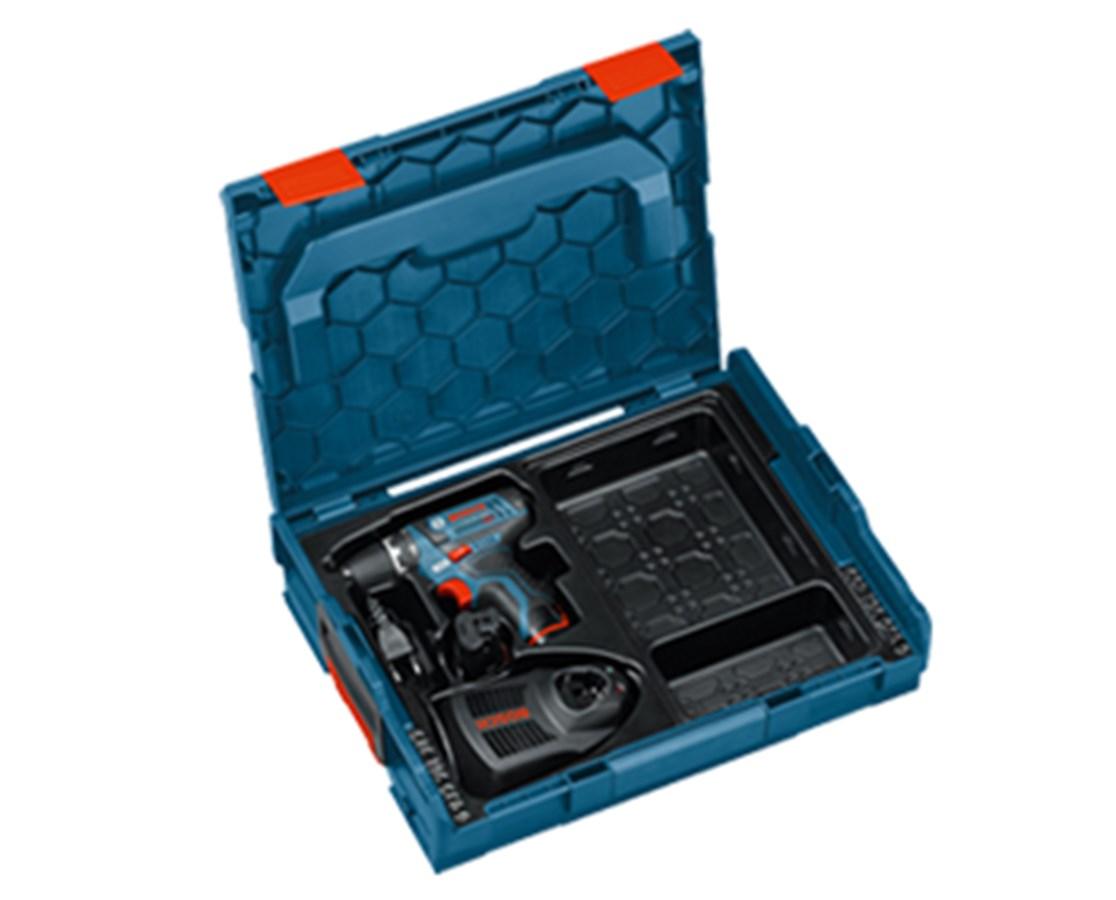 """Bosch PS31-2AL 12V 3/8"""" 12V Cordless Drill Driver Lboxx Kit BOSPS31-2AL"""