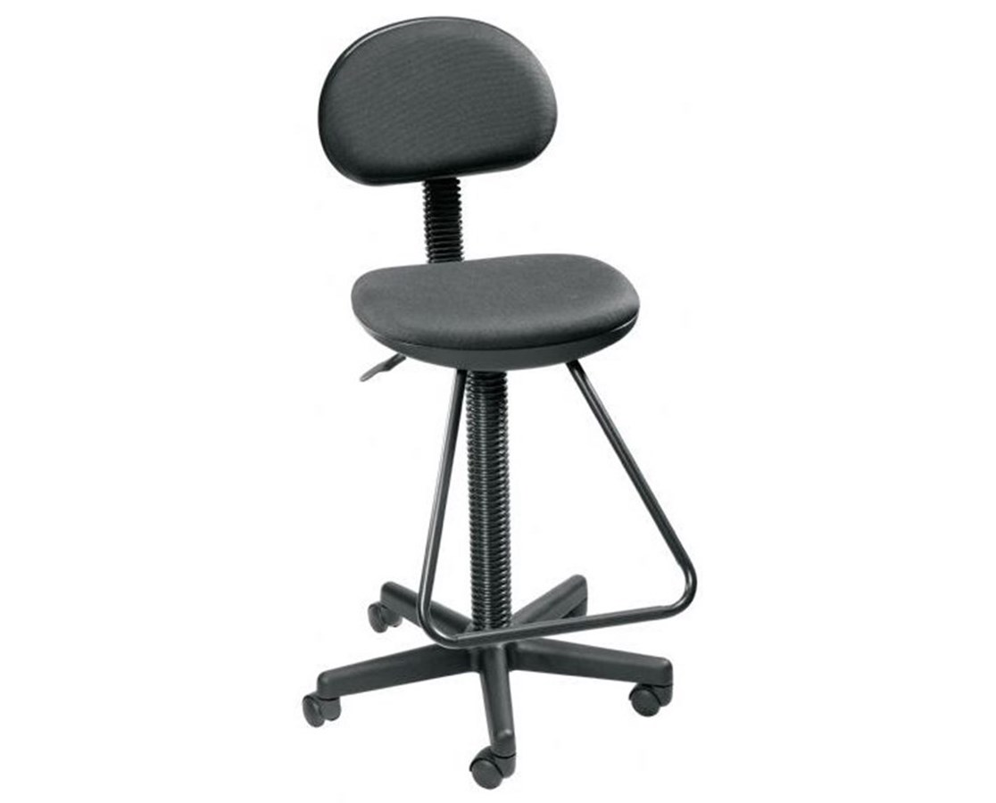 Alvin Economy Drafting Chair w/Footrest Black DC204