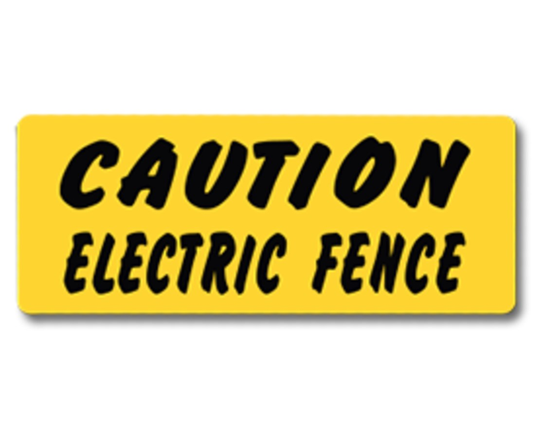 EverMark Caution Electric Fence Property Sign EVEYHM008-01