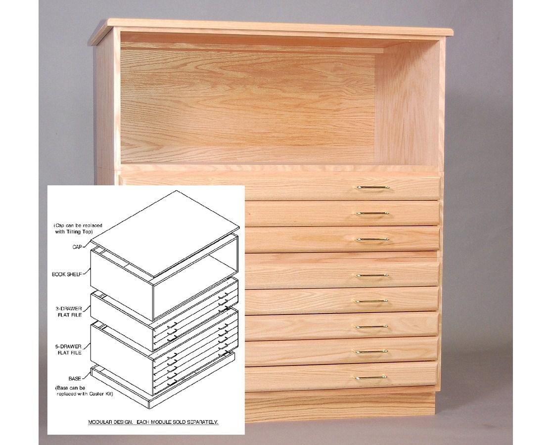 SMI Oak Bookshelf for 24 x 36 SDG Plan File F2436-S-SDG