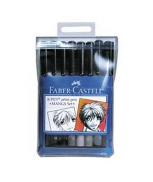 FABER-CASTELL PITT Artist Pen Manga Set FC167107