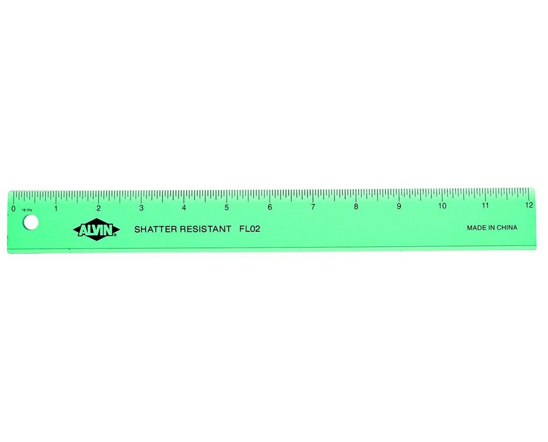 PLASTIC RULER WIDE 12in ASSTD FL02
