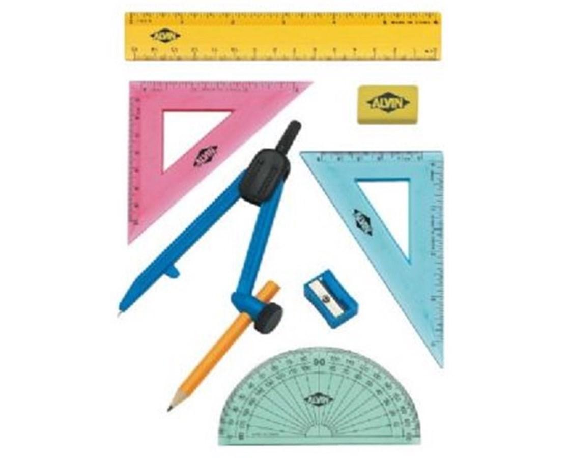8-Piece Multi-Purpose Compass and Geometry Set FL04
