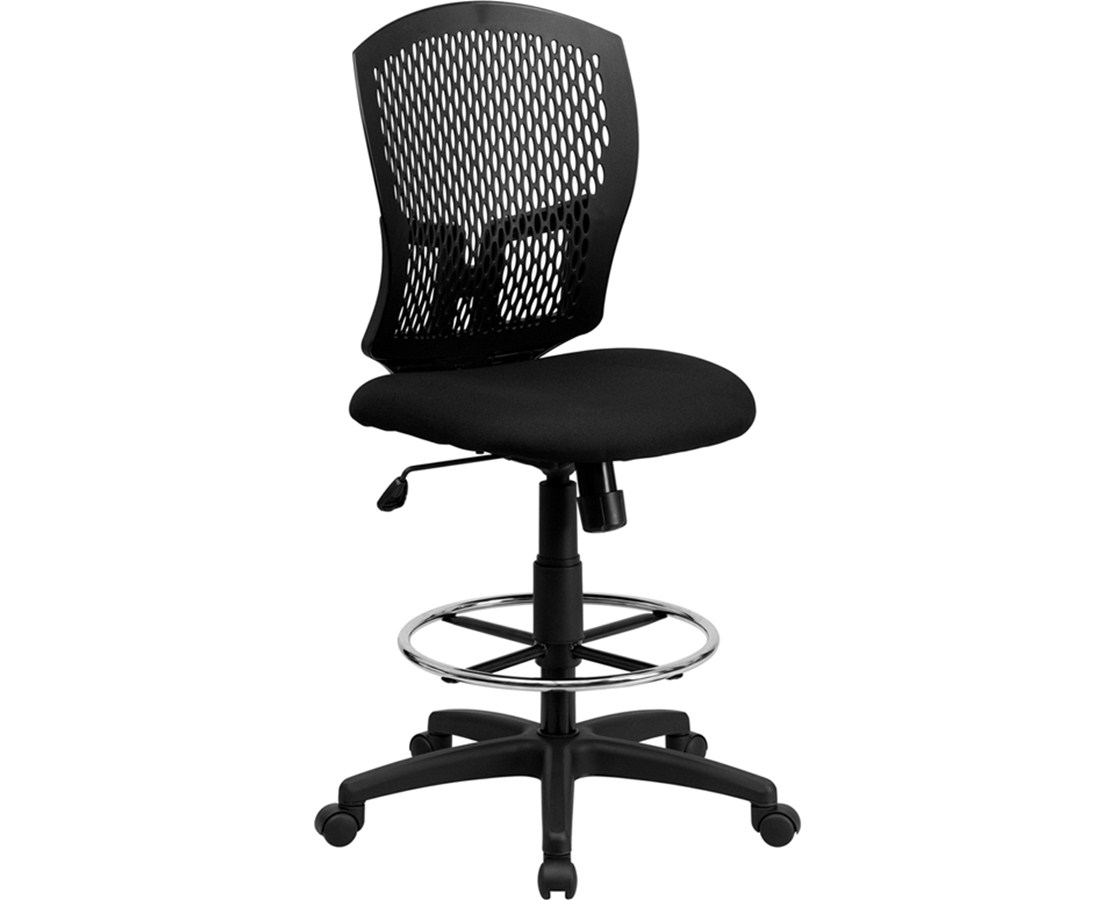 Flash Furniture Mesh Full Back Drafting Chair WL-3958SYG-BK-D-GG