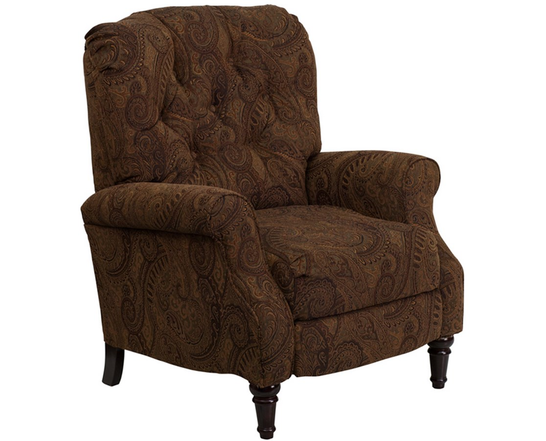 Traditional Tobacco Fabric Tufted Hi-Leg Recliner [AM-2650-6370-GG] FLFAM-2650-6370-GG