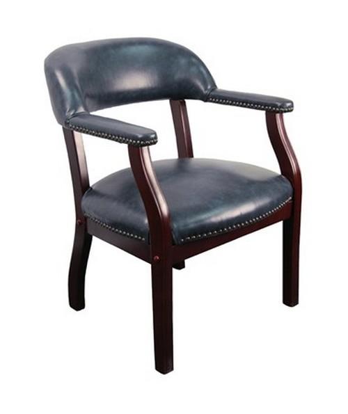 Navy Vinyl Luxurious Conference Chair [B-Z105-NAVY-GG] FLFB-Z105-NAVY-GG