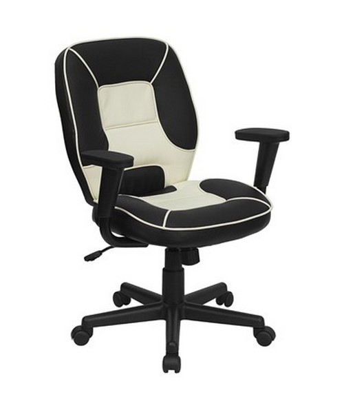 Mid-Back Vinyl Steno Executive Office Chair [BT-2922-BK-GG] FLFBT-2922-BK-GG